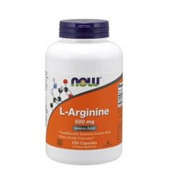 L-arginin 500 mg, 250 lock.